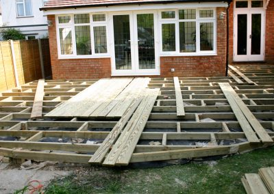 Decking being Built