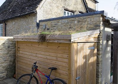 Bike Shed with Green Roof