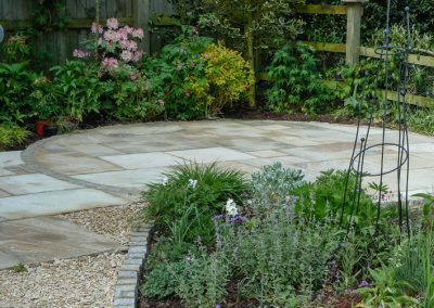 Indian sandstone circular seating area