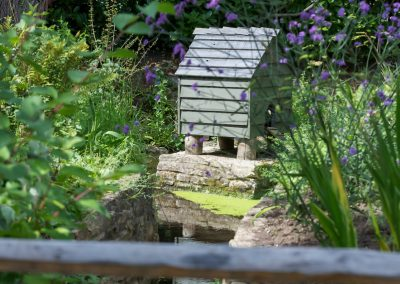 Pond with Duck House