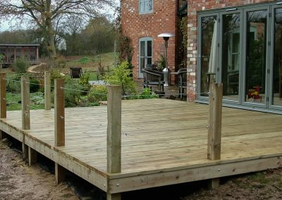 Decking Outside House