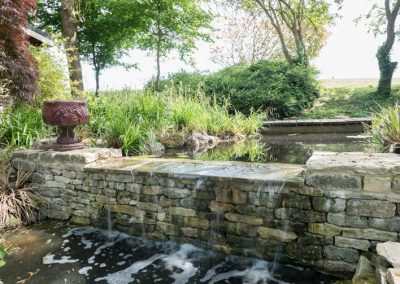 Waterfall for ornamental pond